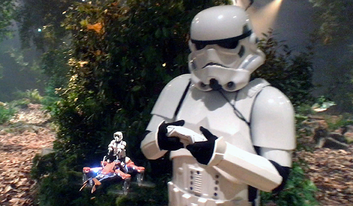 Fan-flying-Scout-bike-quad-copter-on-Endor-Propel-Experience